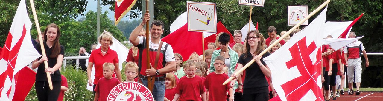 "Einzug am Sportnachmittag ""90 Jahre TB Jahn"""